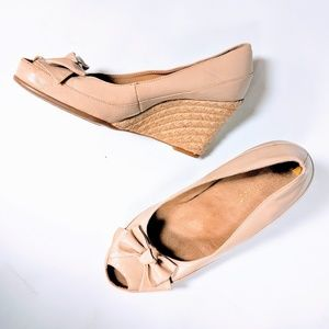 Peep Toe Espadrille Wedges